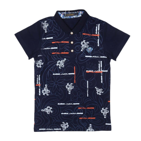 Boys T-Shirt Polo Navy-Blue - Navy/Blue - test-store-for-chase-value