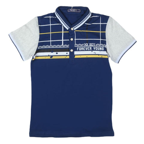 Boys T-Shirt Polo Blue - test-store-for-chase-value