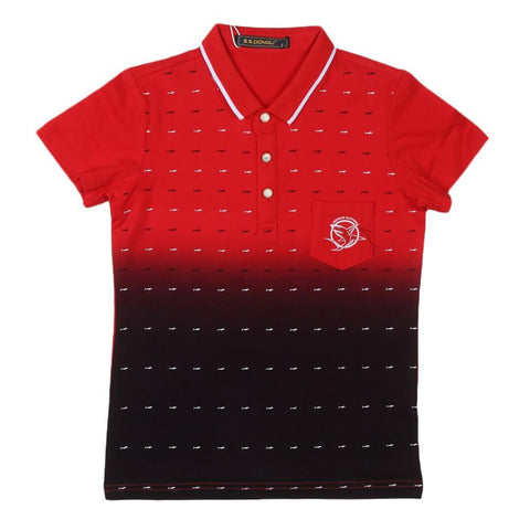 Boys T-Shirt Polo Red - test-store-for-chase-value