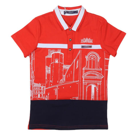 Boys T-Shirt Polo Orange - test-store-for-chase-value
