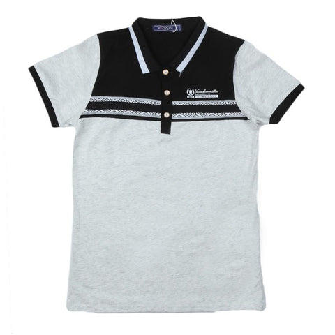 Boys T-Shirt Polo Light-Grey - Light Grey - test-store-for-chase-value