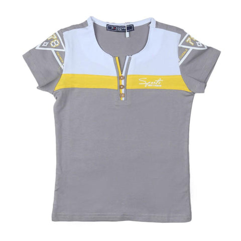 Boys T-Shirt Round Neck Grey - test-store-for-chase-value