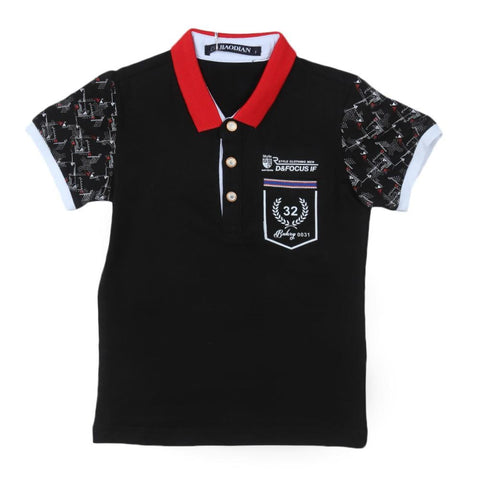 Boys Polo T-Shirt Black - test-store-for-chase-value