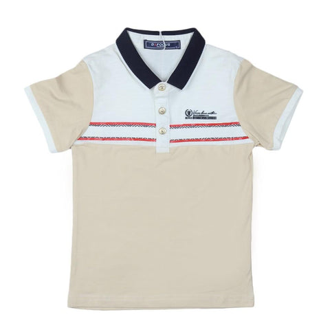 Boys Polo T-Shirt Fawn - test-store-for-chase-value