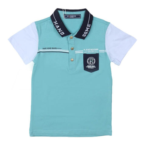 Boys Polo T-Shirt Light-Blue - Light Blue - test-store-for-chase-value
