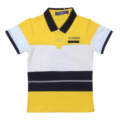 Boys Polo T-Shirt Yellow - test-store-for-chase-value