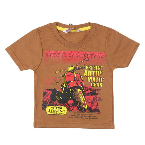 Boys T-Shirt (Brown) - Coffee - test-store-for-chase-value
