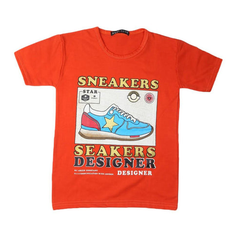 Boys T-Shirt (Orange) - test-store-for-chase-value