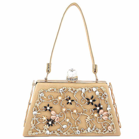 Women's Bridal Clutch - Khaki