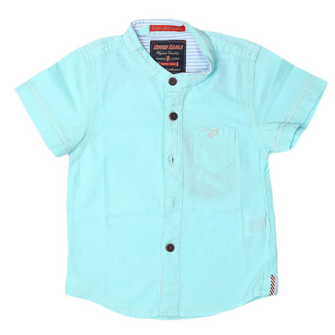 Boys Casual Shirt - Cyan - test-store-for-chase-value
