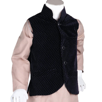 Boys Velvet Waistcoat - Navy Blue - Navy/Blue - test-store-for-chase-value