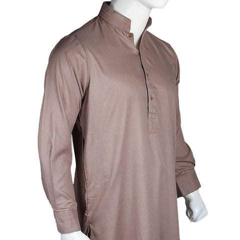 Men's Kameez Shalwar - Light Brown - test-store-for-chase-value