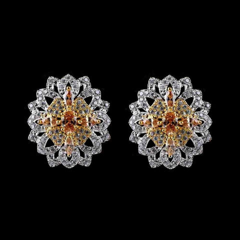 American Diamond Ear Tops - Peach - test-store-for-chase-value