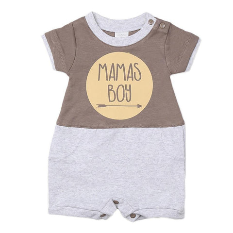 New Born Boys Romper - Grey - test-store-for-chase-value