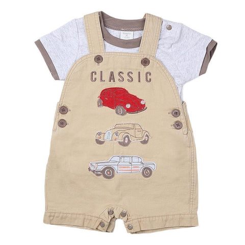 New Born Boys Romper - Beige - test-store-for-chase-value