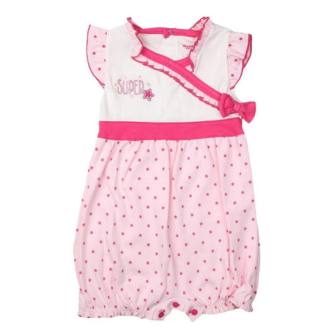 New Born Girls Romper - Light Pink - test-store-for-chase-value