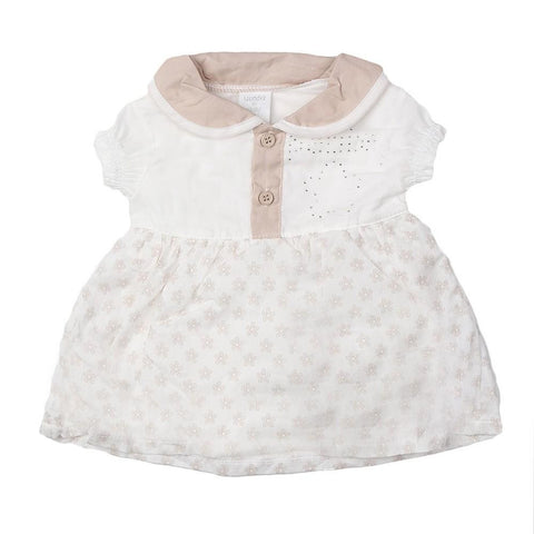 New Born Girls Romper - Fawn - White - test-store-for-chase-value