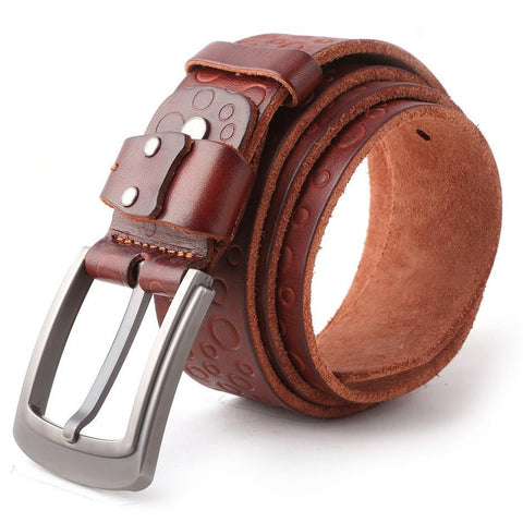 Men's Leather Belt - Dark Brown - test-store-for-chase-value