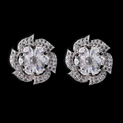 American Diamond Ear Tops - Silver - test-store-for-chase-value