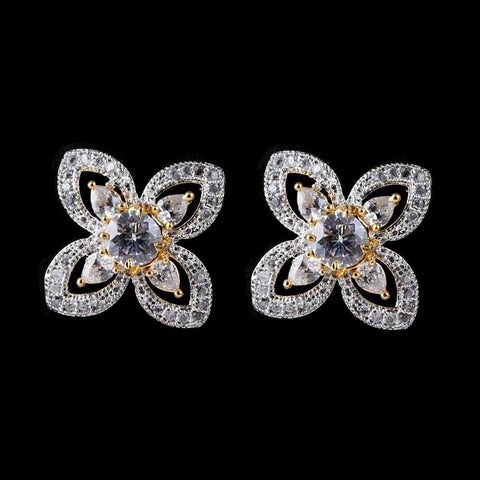 American Diamond Ear Tops - White - test-store-for-chase-value