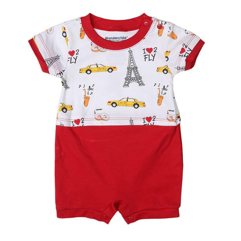Newborn Boys Romper - Red - test-store-for-chase-value