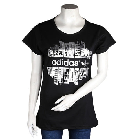 Women's Printed T-Shirt - Black - test-store-for-chase-value