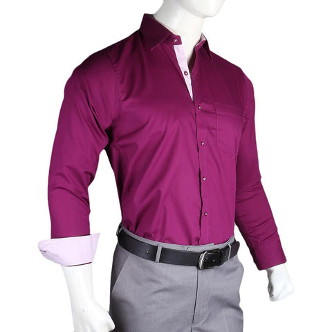 Men's Business Casual Shirt - Dark Purple - test-store-for-chase-value