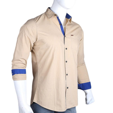 Men's Eminent Casual Shirt - Beige - test-store-for-chase-value