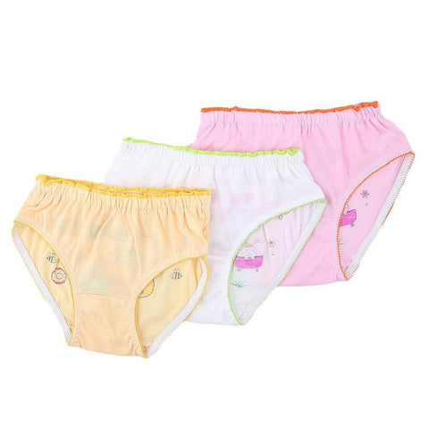 Girls Panty 3 Pcs - Multi - test-store-for-chase-value