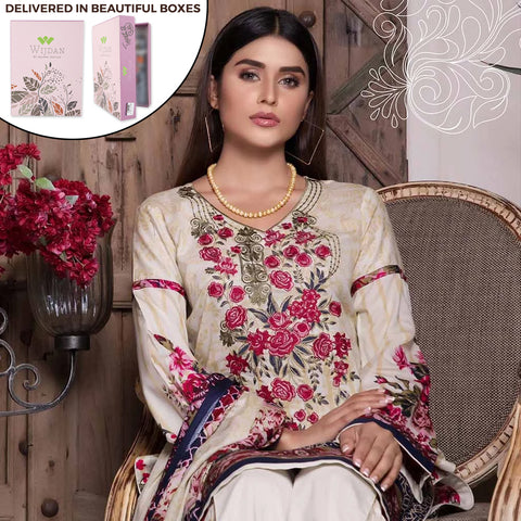 Noor Fatima Embroidered Lawn 3 Piece Un-Stitched Suit - A3