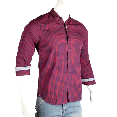 Men's Casual Shirt - Maroon - test-store-for-chase-value