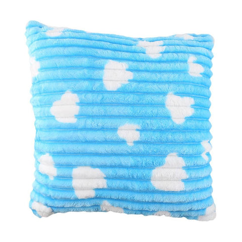 Fleece Cushion Pillow - Sky Blue - Sky Blue/Yellow - test-store-for-chase-value