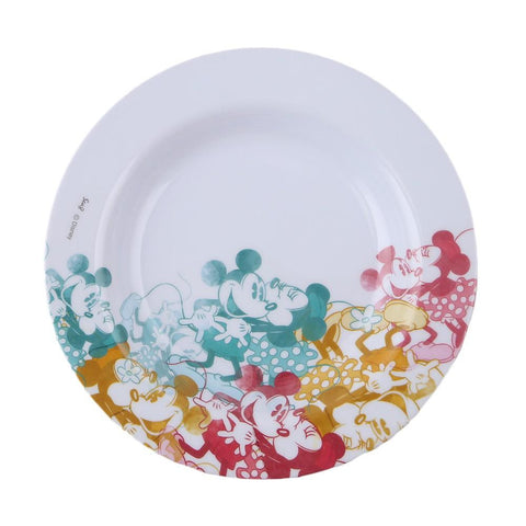 Melamine Mickey & Minnie Mouse Plate - Multi - test-store-for-chase-value