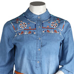 Women's Denim Top - Light Blue - test-store-for-chase-value
