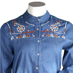 Women's Denim Top - Blue - test-store-for-chase-value