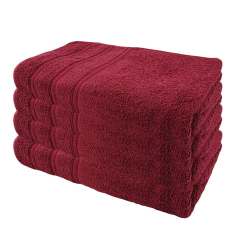 Linen Bath Sheet 100x150 - Maroon - test-store-for-chase-value
