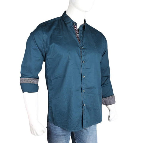 Men's Casual Plain Shirt - Green - test-store-for-chase-value