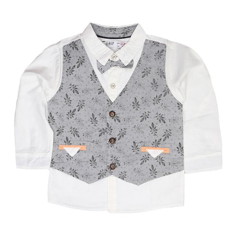 Boys Waistcoat Shirt - Grey - test-store-for-chase-value
