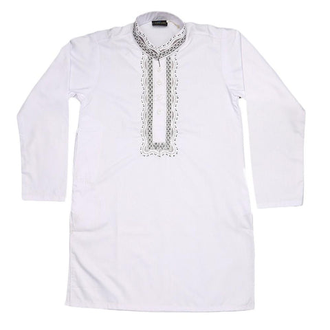 Boys Shalwar Kameez - White - test-store-for-chase-value