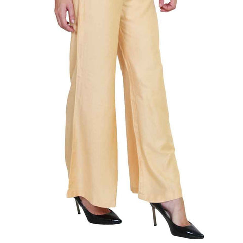 Women's Plain Palazzo - Skin - test-store-for-chase-value