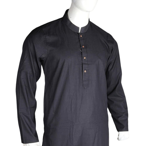 Men's Slim Fit Kurta - Black - test-store-for-chase-value