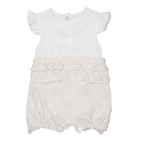 Newborn Girls Romper - White - test-store-for-chase-value