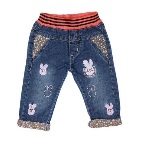 Newborn Girls Denim Pant - Blue - test-store-for-chase-value