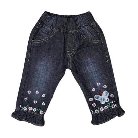 Newborn Girls Denim Pant - Navy Blue - test-store-for-chase-value