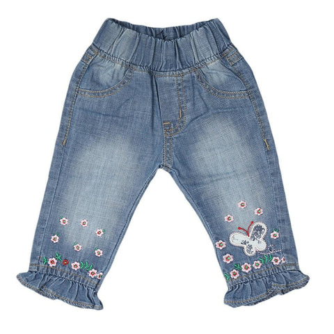 Newborn Girls Denim Pant - Light Blue - test-store-for-chase-value