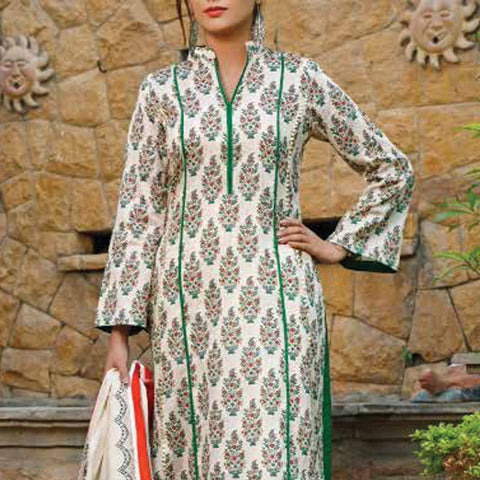 VS Signature Printed Lawn 3 Piece Un-Stitched Suit Vol 2 - 12 A