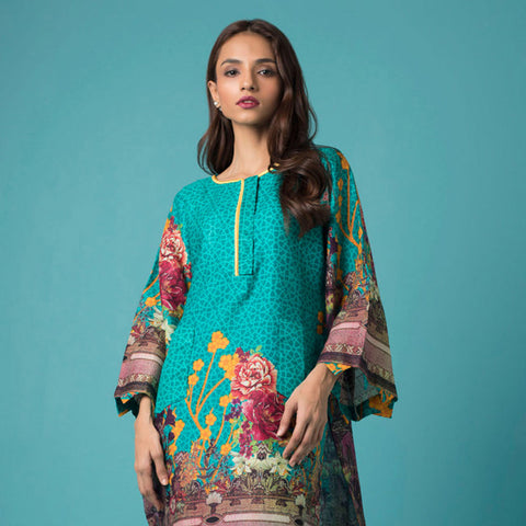 Chase Value Centre Printed Khaddar Un-Stitched Kurti Vol 2 - 12
