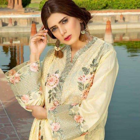 Shan-E-Mughal Embroidered Lawn Suit - 12 - test-store-for-chase-value