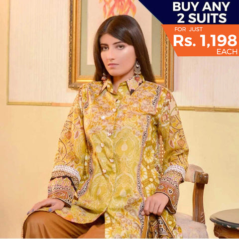 Libas Printed Lawn 3 Piece Un-Stitched Suit Vol 1 - 4 B