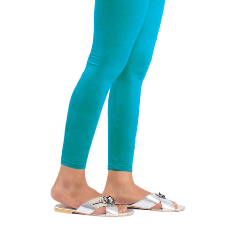 Women's Eminent Plain Tights 39 - Cyan - test-store-for-chase-value